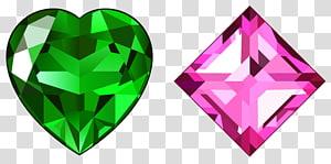 pierres précieuses vertes et roses, diamants, diamants verts et roses png