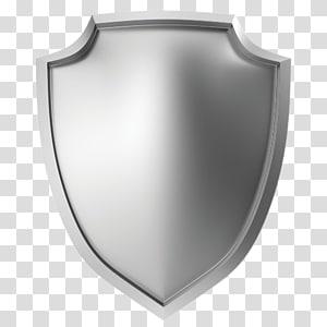 Illustration de bouclier métallique icône, Silver Shield, bouclier d'argent png