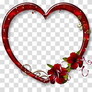 Cadres de bordures et cadres coeur Amour, cadre d'amour, illustration de cadre coeur rouge png