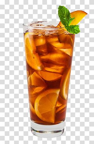 Limonade de jus de thé glacé Long Island, thé glacé, coupe en verre transparent avec jus de citron png