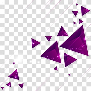 illustration oeuvre triangle violet, Euclidienne, fond de lignes de diamant png