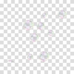 Décors en verre transparent rond, Bulles de savon, Bulles de savon png