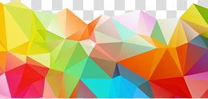 illustration abstraite multicolore, couleur géométrique polygone, graphiques abstraits couleur png