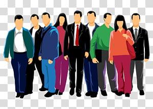 Foule de gens euclidiens, contour de personnages de dessins animés png