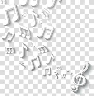 Icône de note de musique, notation musicale exquise stéréoscopique 3D, illustration de notes de musique png