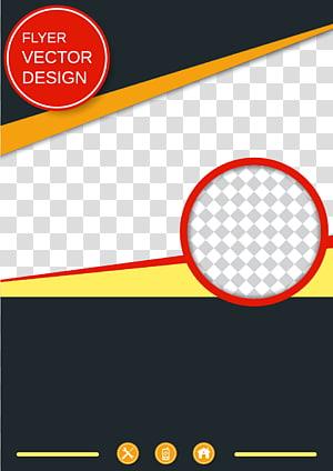 Modèle d'affiche de brochure, matériel d'affiche de création d'entreprise, art mural design de flyer png
