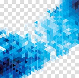 Illustration de la géométrie bleue art abstrait, éléments de science-fiction design fond, pixélisé png