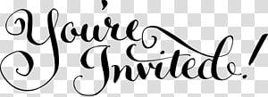 Invitation de mariage YouTube Dessin, vous êtes invités png
