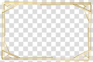 Angle Point Yellow Pattern, cadre doré, cadre rectangulaire en bois marron png