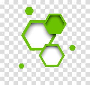 illustration hexagonale verte et blanche, géométrie polygone hexagonale, bordure hexagonale png