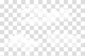 Motif de points d'angle de symétrie de ligne, ensemble de nuages, trois illustrations blanches png