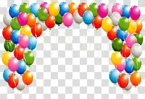 Balloon, Balloons Arch, ballons en plastique de couleurs assorties png