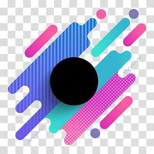 noir, violet et bleu, Graphisme Art abstrait, Cool combinaison géométrique de fond circulaire décoratif png