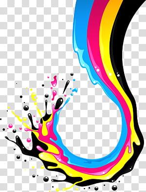 Modèle de couleurs CMJN Illustration, éclaboussures de peinture, éclaboussures de peinture png