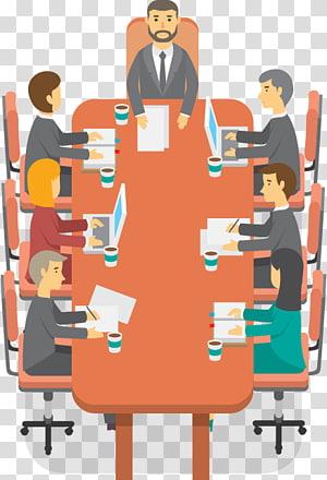 gens, séance, conférence, table, illustration, réunion, réunion affaires, scène png