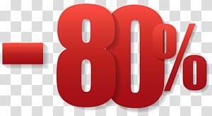 -80% text, 80% de réduction, 80% text png