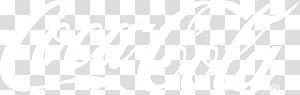 Logo Coca-Cola, motif noir et blanc, logo Coca Cola png
