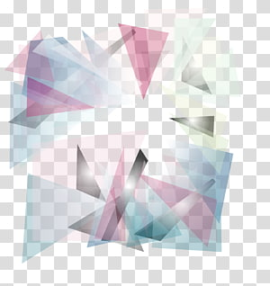 Abstraction de géométrie euclidienne, fond abstrait rose, png
