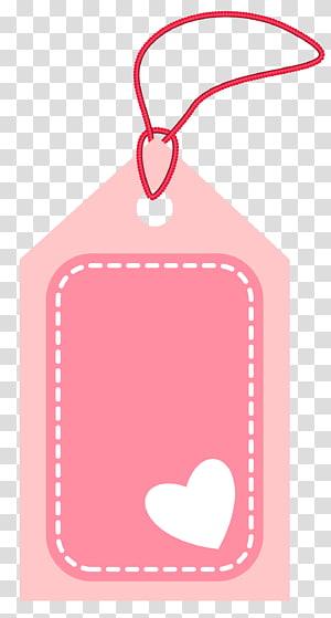 Papier à étiquettes, étiquette rose Valentine, étiquette de prix rose png