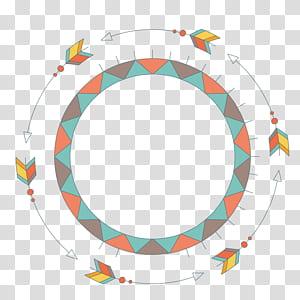 Dessin euclidien, flèche ronde, illustration de la bannière png