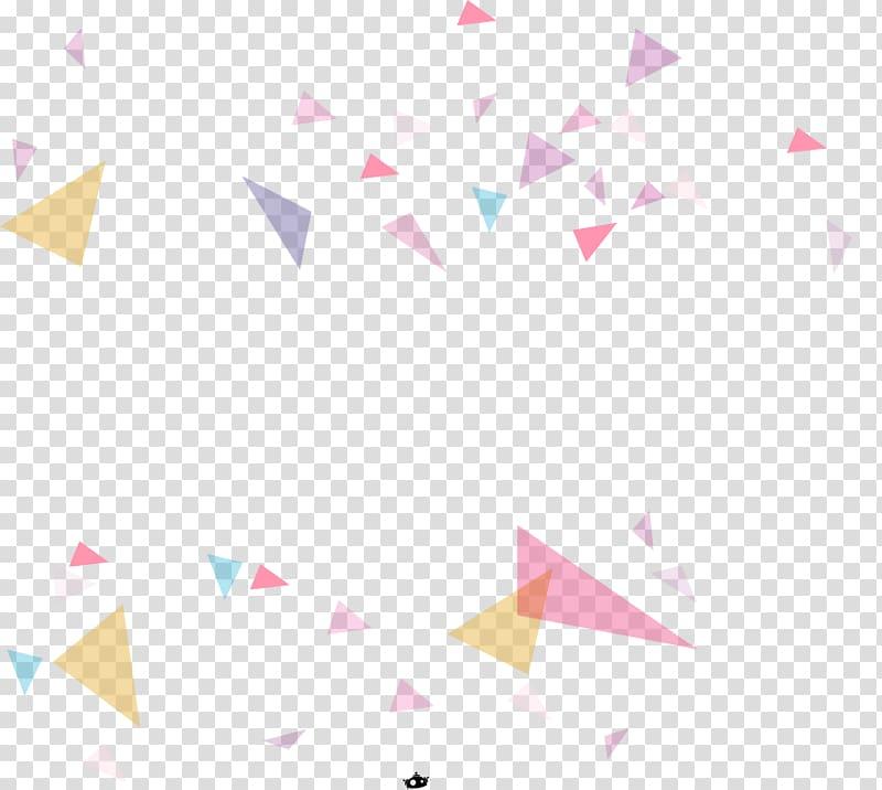 Papier, motif triangulaire, fond géométrique coloré, illustration abstraite numérique en couleurs assorties png