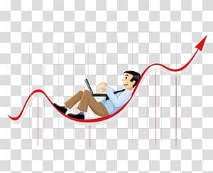 Businessperson Chart, graphiques statistiques de données financières créatives, homme tenant un art graphique pour ordinateur portable png