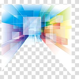 Art abstrait Euclidien, dégradé, mettre un, chevauchement, radial, affiche, fond de bannière, multicolore png