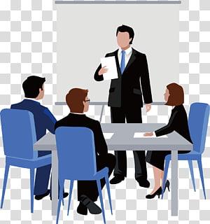 illustration de personnes en réunion, réunion d'affaires euclidienne, travail de discussion png