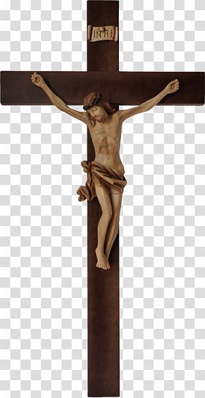 crucifix sur fond bleu, croix de mur crucifix christianisme jésus, roi des juifs, croix chrétienne png