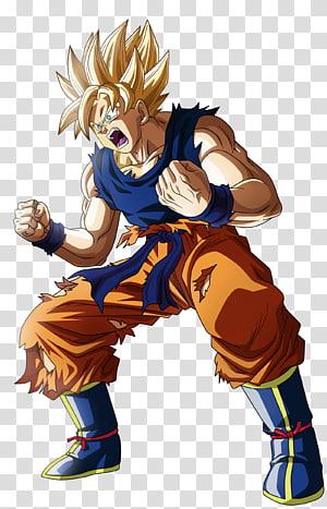 Illustration de Son Goku Super Saiyan, Goku Vegeta Cell Frieza Android 18, dragon ball z png
