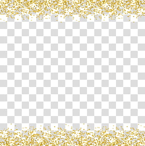 , Bordures décoratives paillettes d'or png