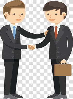 Illustration de partenaire commercial, crédit client d'entreprise, gens d'affaires se serrent la main et parler png