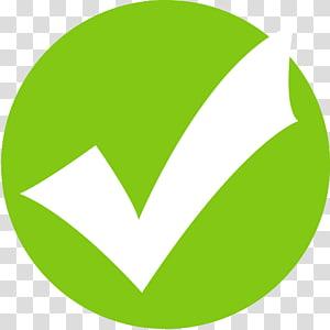 Case à cocher Ordinateur Icons Resort, Icône de la coche verte, illustration de la vérification png