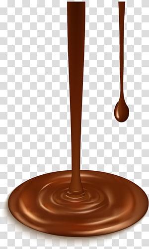 illustration de sirop au chocolat, chocolat liquide, conception d'éclaboussure de chocolat png