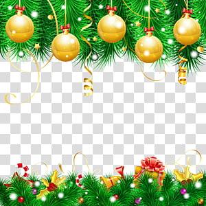 boule de Noël en or, décoration de Noël ornement de Noël arbre de Noël, décor de Noël png