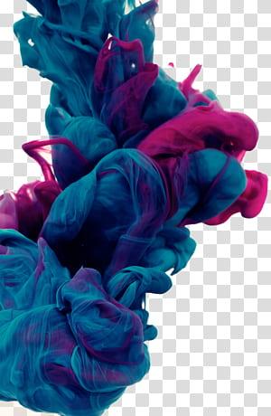 Couleur fumée épaisse, fumée bleue et rose png