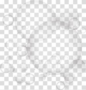 illustration de bulles, motif d'angle de cercle blanc, bulles pétillantes grises png