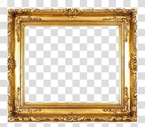 cadre, cadre doré, cadre de peinture en filigrane d'or png