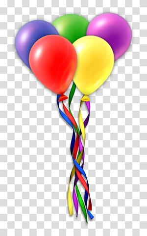 Gâteau d'anniversaire cadeau ballon, ballons png