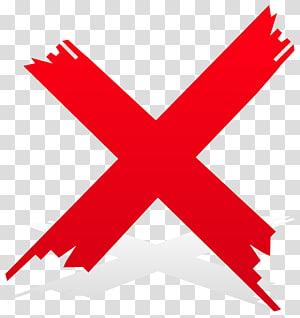 illustration x rouge, coche Croix Coche rouge, croix png