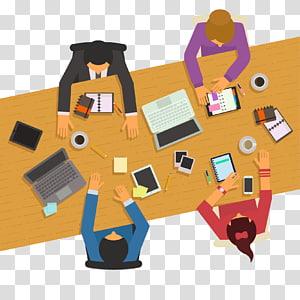 illustration de réunion, réunion d'infographie emploi gestion d'entreprise, réunions d'affaires png