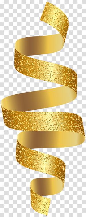 illustration en spirale, ruban d'or, ruban d'or png