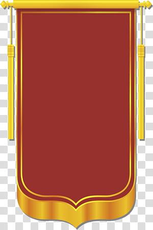 Banner CorelDRAW, modèle de bannière, application de jeu de devinettes avec logo rouge et jaune png