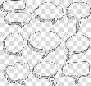 Bulle de dialogue Boîte de dialogue Boîte de dialogue, texture de bordure de boîte de dialogue de nuage simple blanc, boîtes de message de formes variées png