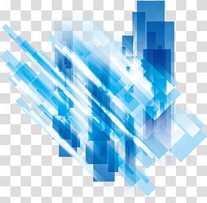 Affiche, fond de technologie cool, blanc et bleu png