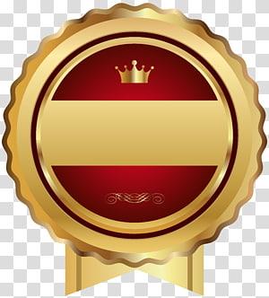 bord festonné et rouge avec ruban de couronne, modèle Web, écusson Sceau rouge png