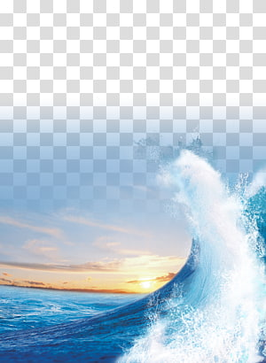 Coucher de soleil de la mer légère Vague de vent, mer bleue, des vagues de l'océan png