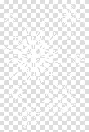 Ligne Symétrie motif point noir et blanc, flocons de neige, illustration de flocons de neige blancs et noirs png