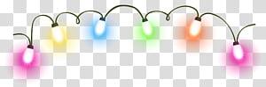 Lumières de Noël Animation d'éclairage, lumières de Noël, guirlandes multicolores png