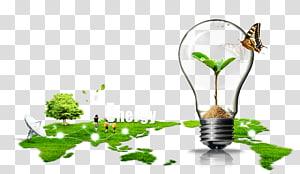 illustration énergétique et végétale, conservation de l'énergie de la terre, écologisation écologique png